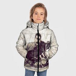 Куртка зимняя для мальчика Сталин байкер цвета 3D-черный — фото 2