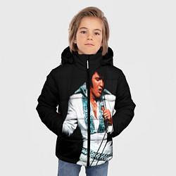 Куртка зимняя для мальчика Элвис поет цвета 3D-черный — фото 2