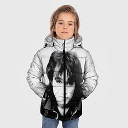 Куртка зимняя для мальчика Кино: Виктор Цой цвета 3D-черный — фото 2