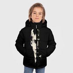 Куртка зимняя для мальчика Есенин Ч/Б цвета 3D-черный — фото 2