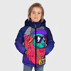 Куртка зимняя для мальчика Лев SWAG цвета 3D-черный — фото 2