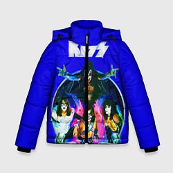 Куртка зимняя для мальчика Kiss Show цвета 3D-черный — фото 1