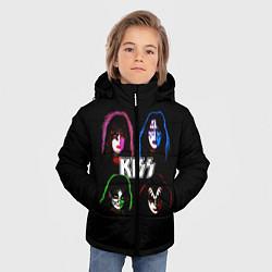 Куртка зимняя для мальчика KISS: Acid Colours цвета 3D-черный — фото 2