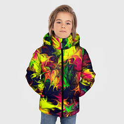 Куртка зимняя для мальчика Кислотный взрыв - фото 2