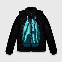 Куртка зимняя для мальчика Тоторо в лесу цвета 3D-черный — фото 1