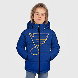 Куртка зимняя для мальчика St Louis Blues: Tarasenko 91 цвета 3D-черный — фото 2