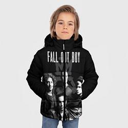 Куртка зимняя для мальчика Fall out boy band цвета 3D-черный — фото 2