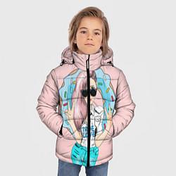 Куртка зимняя для мальчика Моя любовь - пончики цвета 3D-черный — фото 2