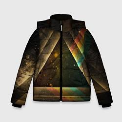 Куртка зимняя для мальчика Pink Phloyd: Triangle цвета 3D-черный — фото 1