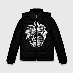 Куртка зимняя для мальчика The Truth Is Stranger цвета 3D-черный — фото 1