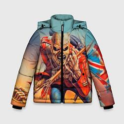 Детская зимняя куртка для мальчика с принтом Iron Maiden: Crash arrow, цвет: 3D-черный, артикул: 10089880706063 — фото 1