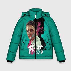 Куртка зимняя для мальчика Fight Club Stories цвета 3D-черный — фото 1