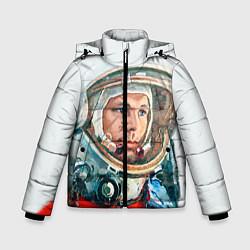 Куртка зимняя для мальчика Гагарин в полете цвета 3D-черный — фото 1