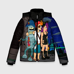 Куртка зимняя для мальчика Футурама пати цвета 3D-черный — фото 1