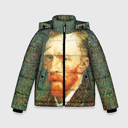 Куртка зимняя для мальчика Ван Гог цвета 3D-черный — фото 1