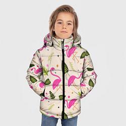 Куртка зимняя для мальчика Нежный фламинго цвета 3D-черный — фото 2