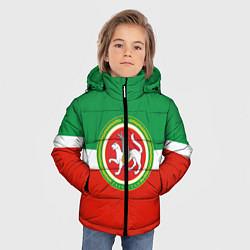 Детская зимняя куртка для мальчика с принтом Татарстан: флаг, цвет: 3D-черный, артикул: 10094275106063 — фото 2