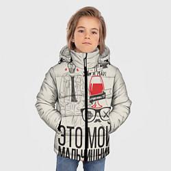 Куртка зимняя для мальчика Мой мальчишник цвета 3D-черный — фото 2