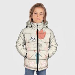 Детская зимняя куртка для мальчика с принтом Муж с шариками, цвет: 3D-черный, артикул: 10094830406063 — фото 2