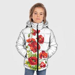 Куртка зимняя для мальчика Вышивка 22 цвета 3D-черный — фото 2
