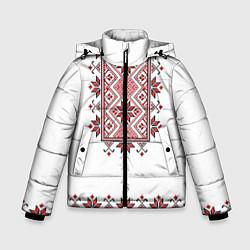 Куртка зимняя для мальчика Вышивка 41 цвета 3D-черный — фото 1