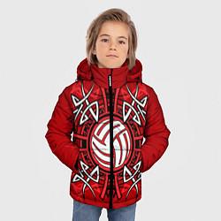 Куртка зимняя для мальчика Волейбол 34 цвета 3D-черный — фото 2