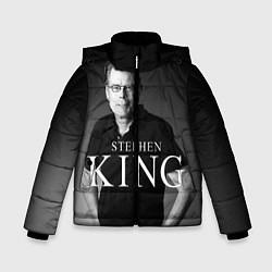 Детская зимняя куртка для мальчика с принтом Стивен Кинг, цвет: 3D-черный, артикул: 10095786506063 — фото 1