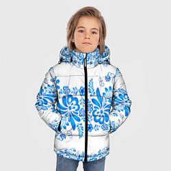 Куртка зимняя для мальчика Гжель цвета 3D-черный — фото 2