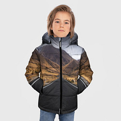 Куртка зимняя для мальчика Пейзаж горная трасса цвета 3D-черный — фото 2