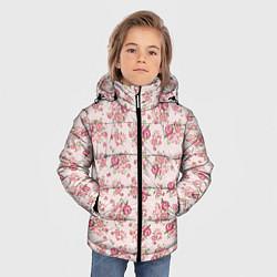 Куртка зимняя для мальчика Fashion sweet flower цвета 3D-черный — фото 2