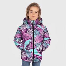 Детская зимняя куртка для мальчика с принтом Summer paradise, цвет: 3D-черный, артикул: 10096430306063 — фото 2