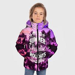 Куртка зимняя для мальчика Hawaii dream 2 цвета 3D-черный — фото 2