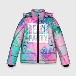 Детская зимняя куртка для мальчика с принтом Beach Party, цвет: 3D-черный, артикул: 10096482806063 — фото 1