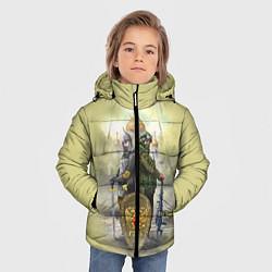 Детская зимняя куртка для мальчика с принтом Имперская русь, цвет: 3D-черный, артикул: 10096755806063 — фото 2