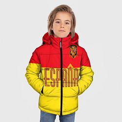 Куртка зимняя для мальчика Сборная Испании: Евро 2016 цвета 3D-черный — фото 2