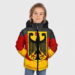 Куртка зимняя для мальчика Германия: герб цвета 3D-черный — фото 2
