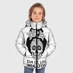 Детская зимняя куртка для мальчика с принтом День мертвецов, цвет: 3D-черный, артикул: 10098944306063 — фото 2