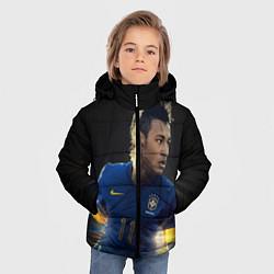 Куртка зимняя для мальчика Neymar: Brasil Team цвета 3D-черный — фото 2