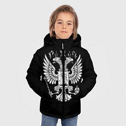 Куртка зимняя для мальчика Двуглавый орел цвета 3D-черный — фото 2