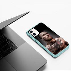 Чехол iPhone 11 матовый Conor McGregor цвета 3D-мятный — фото 2