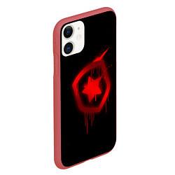 Чехол iPhone 11 матовый Gambit: Black collection цвета 3D-красный — фото 2