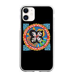 Чехол iPhone 11 матовый KISS: Over цвета 3D-белый — фото 1