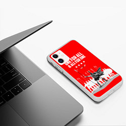 Чехол iPhone 11 матовый One for all & all for one цвета 3D-белый — фото 2