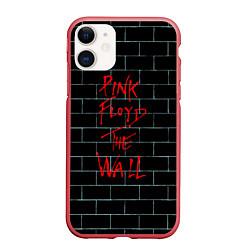 Чехол iPhone 11 матовый Pink Floyd: The Wall цвета 3D-красный — фото 1