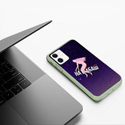 Чехол iPhone 11 матовый Лечу на шабаш цвета 3D-салатовый — фото 2