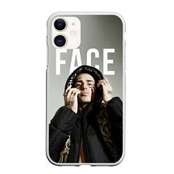 Чехол iPhone 11 матовый FACE: Slime цвета 3D-белый — фото 1