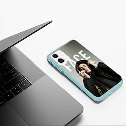 Чехол iPhone 11 матовый FACE: Slime цвета 3D-мятный — фото 2