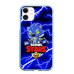 Чехол для iPhone 11 матовый с принтом BRAWL STARS LEON, цвет: 3D-голубой, артикул: 10202825505889 — фото 1
