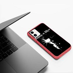 Чехол iPhone 11 матовый Король и Шут Анархия спина цвета 3D-красный — фото 2