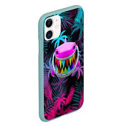 Чехол iPhone 11 матовый 6IX9INE 69 цвета 3D-мятный — фото 2